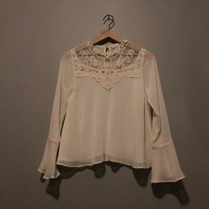 Beige Embroidered Blouse